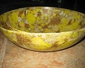 Vintage Celluloid Bowls Serving Decor Collectible Paris Chic 2 ea