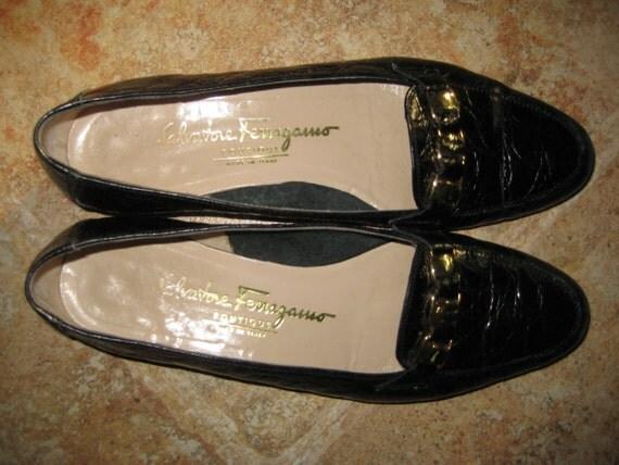 Sale VINTAGE SALVATORE FERRAGAMO Boutique Flats Shoes Italy 6 B