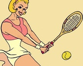 Tennis Anyone - 4 x 6 art print -