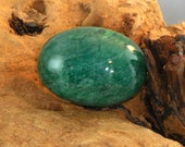 Emerald large oval cabochon natural gemstone 74 cts