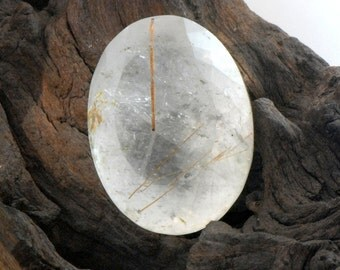 Rutilated Quartz Faceted Oval Natural Gemstone 146 cts