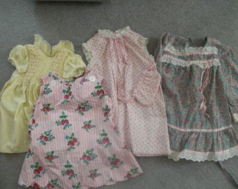 Girls size 4-5 vintage summer dresses