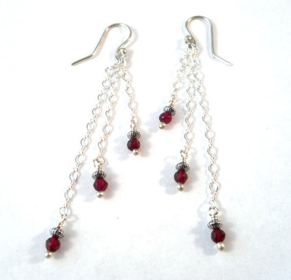 gemstone jewelry garnet sterling silver by