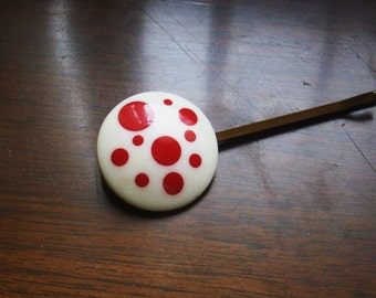 Polka Dot Handmade Bobby Pin Hair Ornament Vintage Findings