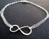 Silver Infinity bracelet, SALE, nymetals