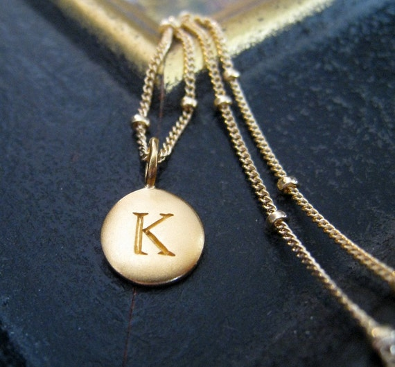 Gold initial necklace, personalized bridesmaid jewelry, gold letter necklace, initial charm, bridal party gifts, weddings,