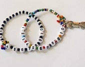 99 ROW COUNTER Customize this bracelet set in colors and a size that fit you Knitting Row Counter Crochet Row Counter Gift for a knitter