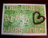 The Light Heart Lives Long St. Patrick's Day Plaque