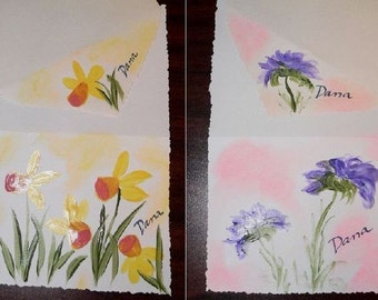 Hand-Painted PERSONALIZED Note Cards - Pkg of 10