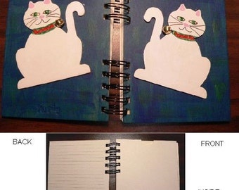 Hand-Painted Cat Journal - Mysterious Musings