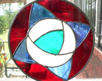 GeoFlower 2 - Stained Glass Piece