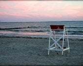 photograph Life Guard Watch, Roger Wheeler Beach, Point Judith Rhode Isalnd Fine Art gifts for woman men man