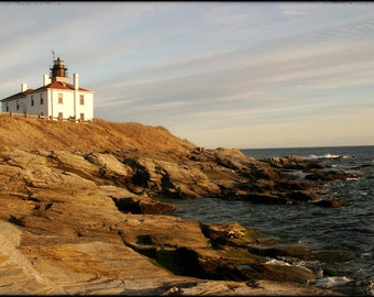 Beavertail Lighthouse, Jamestown, RI - 8x10 Photographic Metallic Print