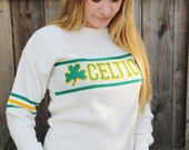 Vintage Celtics NBA Vintage Basketball Womens Sweater