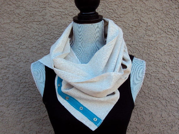 Versatile 3-Way Scarf in Cream Linen Blend