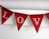 Love Pennant Banner for Valentine's Day by FLIPAWOO - Instant Download Printable PDF File