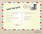 Postal Postcard Invitation by FLIPAWOO - Customized Printable File