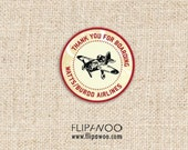 Vintage Airplane Thank You Tags by FLIPAWOO - Customized Printable File