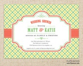 Picnic Gingham Invitation Design by FLIPAWOO  - Customized Printable File