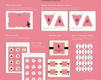 Ballerina Party Premium Set by FLIPAWOO - Customized Printable Files