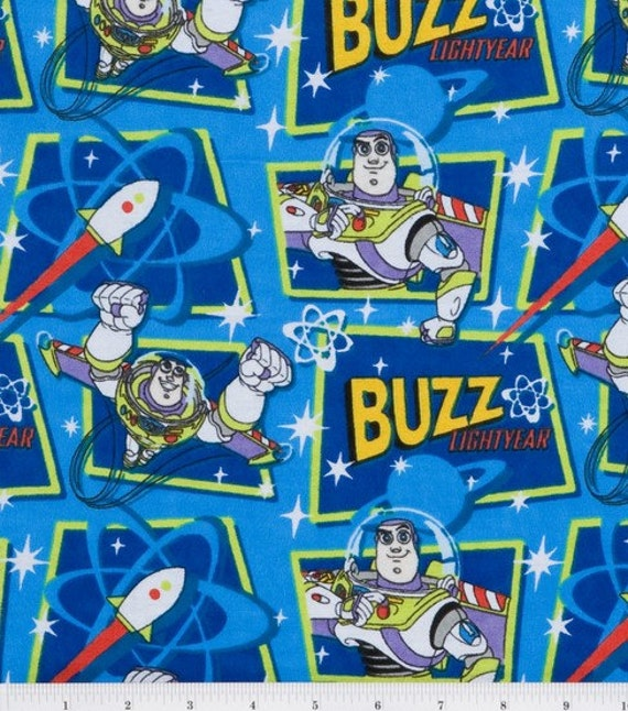 Buzz Lightyear fitted crib or toddler bed sheet REDUCED