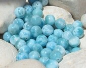 Larimar beads - 1 oz colors and patterns mixed gems - 10 mm