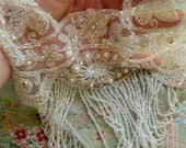 Treasury Item Incredible vintage glass beaded wedding bodice rhinestone belle epoque flapper glamour