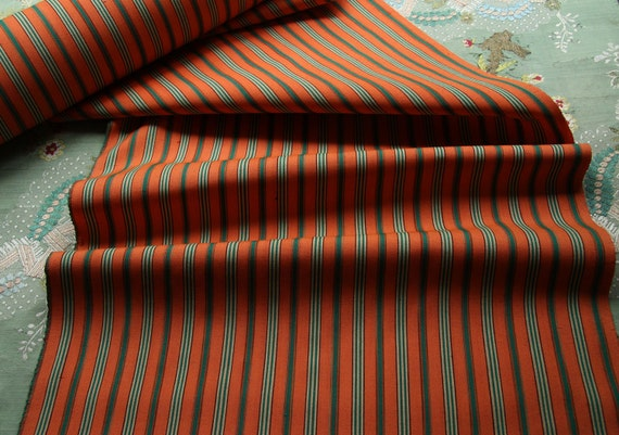 reserve 8 yards vintage Japanese pure wool woven kimono fabric art deco shaded stripes fabric more available