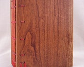 wooden covered coptic Journal in Cherry.