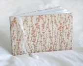 Pink cherry blossom guest book peach coral Japanese vintage style wedding album