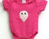 Owl love you forever baby onesie in baby pink- 0 to 3 months