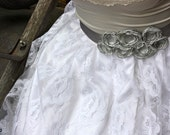 Special Order for Bailey--bridal sash in cream and navy
