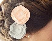 Bridal Rose Hair Pins / Wedding Hair Accessory / Wedding Hair Flower / Bridesmaids Hair (40 Colors to choose from)