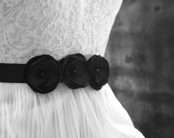 Rosebud Belt in Black (Style No. 1)