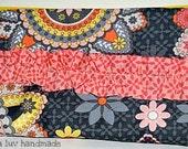"Original Ruffle Paisley Fabric Clutch Wristlet ""Penelope"" Hiya Luv Handmade"