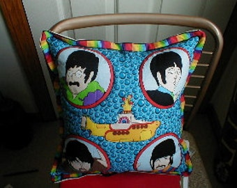 BEATLES Pillow with the Yellow Submarine Brand New