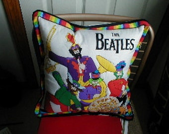 FAB 4  Pillow Dressed in Dr Pepper's Lonely Hearts Club band costume