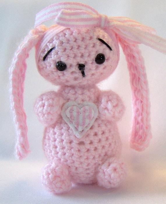 Amigurumi Bunny Ears : Items similar to Floppy Ear Bunny, Crocheted, Amigurumi ...