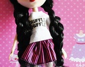 25% Off Everything Pullip, Blythe, Momoko -  Pink & black striped skirt