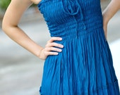 Maxi Dress in Ocean Blue, One Size Fits All