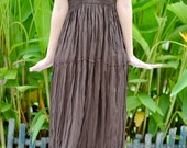 Maxi Dress in Dark Brown, One Size Fits All