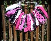 Black and Pink Funky Scrap Skirt Tutu--size 2-3 years