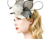 Fascinator Headpiece Wedding Bridal Accessory - Haircomb - Made to Order - Choose Your Color -April