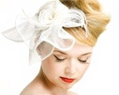 Fascinator Headpiece Wedding Bridal Accessory - Haircomb - Made to Order - Choose Your Color - Tamara