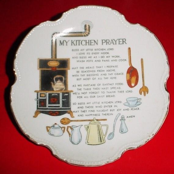 My Kitchen Prayer Plate