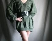 Ungaro moss green knit Sweater v-neck size XL