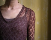 SALE - Designer Cashmere wool knitted sheer sweater size S XS
