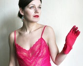 Hot Pink 1970ies Lace teddy