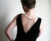 Little Black Velvet Dress