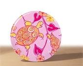 Pocket mirrors - Pink and Orange Turtles